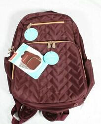 Fisher Price Signature Morgan Backpack Diaper Bag Insulated Pocket In Burgundy $34.00