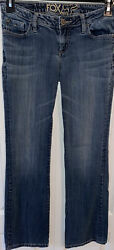 Fox Racing Jeans Womens Distressed Size 7 Measure 28x30