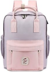 Cute Pink Stylish Backpack For Girls Travel Water Resistant USB Backpack Bag $45.99