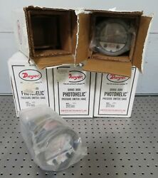 C174941 Lot 5 Dwyer 3005 Photohelic Pressure Switch/gage 0-5 Inches Of Water