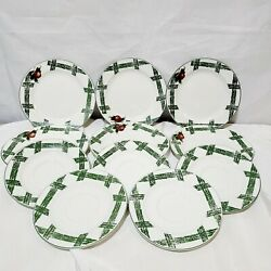 The Cades Cove Collection By Citation 6 Dessert Plates 7.5 And 5 Saucers 6.5