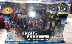Transformers Prime First Edition Optimus Prime Vs Megatron Set W/ Dvd And Kids New
