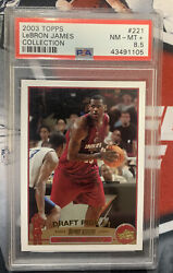2003-04 Topps Collection 221 Lebron James Rookie Rc Psa 8.5 Nm-mt+ Lakers