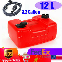 12l Marine Outboard Motor Boat Engine Gas Tank External Fuel Tank With Line Usa
