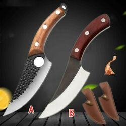 Serbian Forged Boning Knife Chef Cooking Kitchen Butcher Cleaver Hunting Knives