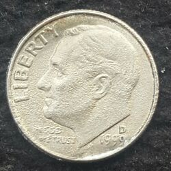 1999 D Dime Strike Through Grease The Roosevelt Martian Extremely Rare Example