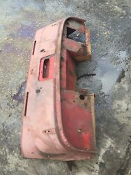 Triumph Tr2 Tr3 Tr3b Front Cowl Section Raised Hinges Good Cond Used Orig Oem