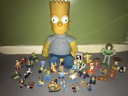 Vintage Cartoon And Animated Toys And Large Bart Doll Collectables Lot 100.00