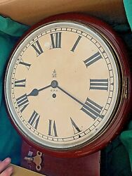 George Vi Fusee Gpo Antique Clock Large Vintage Circa 30and039s Great Condition Rare