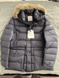 Moncler Cluny Long Parka - Navy - Size 5 Xxl - 100 Authentic Never Worn