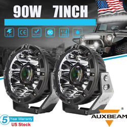 Auxbeam 2x 7 Inch Laser Led Car Work Light Pods Spot Combo Driving Lamp Offroad