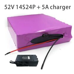With 5a Charger 84ah 52v 48v Battery E-bike Electric Bicycle Li-ion Customizable