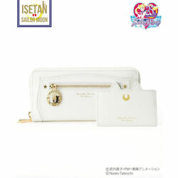 Samantha Thavasa Collaboration Sailor Moon Leather Long Wallet White From Jp F/s