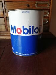 Vintage Mobil Oil Mexican Pemex Oil Empty Tin Can From 80's Rare