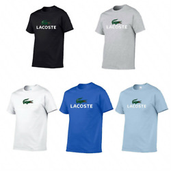 Unisex Vintage Original Lacoste Short Sleeve T Shirt Casual Tops Sportswear US
