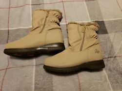 Totes Boots All Weather Faux Fur Lined Boots Size 6M Winter $12.00