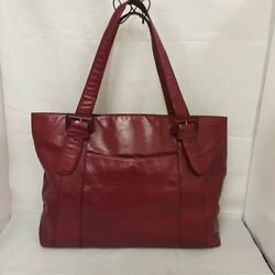 HOBO INTERNATIONAL RED LEATHER SHOULDER BAG PURSE $49.00