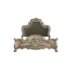 Queen Bed, Vintage Bone White And Pu