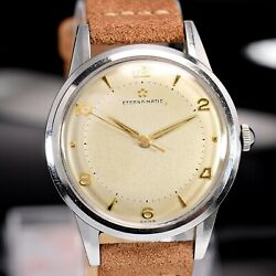 Vintage Eterna-matic Automatic Cal.1249,oversize Steel 37mm Case, 50s Mens Watch