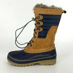 New Lands End Womenand039s Size 7.5 B Squall Insulated Winter Snow Boots Waterproof