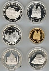 5 Of 2000 And Only 40.000 1996 Unesco Silver And Gold F. N.m. T