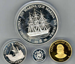 1 5 25 And 100 Ecu 1996 Spain Marine Silver And Gold F. N.m. T