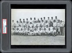 Ruth And Gehrig 1930 Yankees Team Type 1 Original Photo Psa/dna Crystal Clear