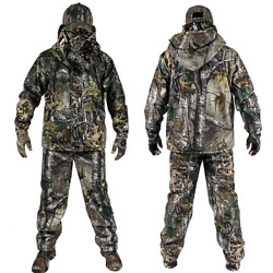 Menand039s Outdoor Camouflage Clothes Hunting Clothing Hunting Suits Ghillie Suit