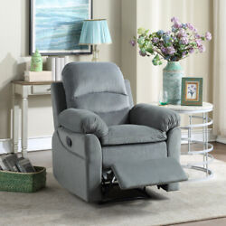 Recliner Chair Padded Seat With Padded Seat Armrest Heavy Duty Sofa Lounge Gray