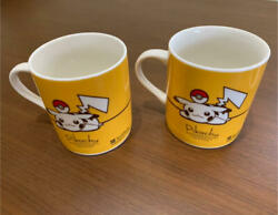 Pokemon Pikachu And Eevee Mug Cup Set Of 2 Ymobile Not For Sale Limited