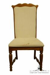 Set Of 10 Broyhill Furniture Solid Oak Country French Upholstered Dining Side...