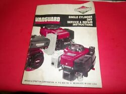 Briggs And Stratton Single Cylinder Ohv Engine Repair Service Manual 272147 Q3