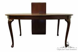 Thomasville Furniture Collectors Cherry 88 Oval Dining Table 10121-652