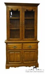 Cochrane Furniture Solid Oak Country French 42 Buffet W. Lighted China Cabin...