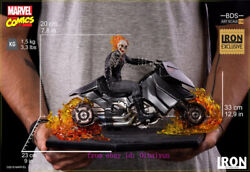New Iron Studios Ghost Rider Art Scale 1/10-deluxe Edition Statue Toy Model