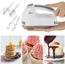 Electric Hand Mixer Whisk 7 Speed With Stainlwess Steel Egg Beater Cake Bakingec
