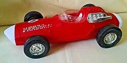 Vrroom Friction Racer Mattel 1963 Red White Plastic As Is Parts Restoration