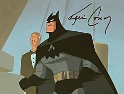 Bruce Timm Rare Batman And Alfred Cel Signed Growing Pains Btas Wb Coa Clayface