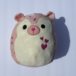 """Squishmallows Pink Hedgehog Marco Hearts Rare Plush Pillow Toy Squishmallow 8"""""""
