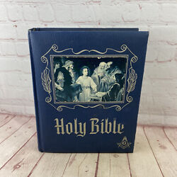 Vintage 1964 Large Freemasons Heirloom Master Reference Holy Bible Red Letter
