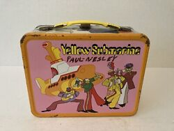 Vintage 1968 Beatles Yellow Submarine Lunchbox No Thermos