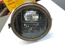 Vintage 1900and039s Brass Era Headlamp / Headlight For Parts Or Restore 1912 1914