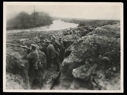 1915 Wwi Trench Warfare Germans Dig In Northern France Type 1 Original Photo