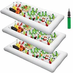 Inflatable Serving Bar Salad Ice Tray Food Drink Containers - Bbq Picnic Pool