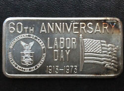 1973 Great Lakes Mint Labor Day Glm-5 Silver Art Bar A2808