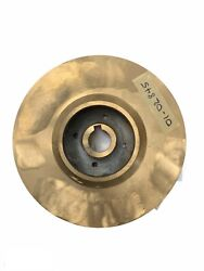 9-3/8 Brass Impeller For An End Suction Heavy Duty Open Andenclosed Impeller Pump