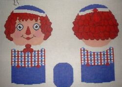 Jjg Raggedy Andy 3d Doll Front, Back, Arms, Legs Handpainted Needlepoint Canvas