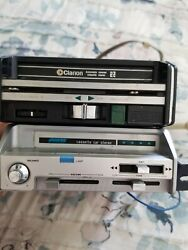 Vintage By Audiovox C-988 Cassette Car Stereo Radio And Clarion Cassette Stereo