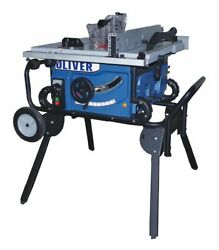 Oliver 10 Jobsite Table Saw W/roller Stand - 10010