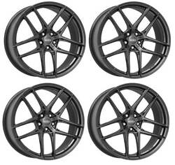 4 Dotz Lagunaseca Grey Wheels 10.0jx20 5x112 For Volkswagen Beetle Phaeton Tigua